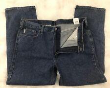 Carhartt Mens B480 DPS Blue Traditional Fit Straight Leg Denim Jeans Sz 42 x 32