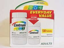 130 Centrum ADULTS Multivitamin Multimineral Supplement 130 Tablets