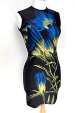 Christopher Kane blue bell floral print tank dress S