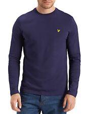 Lyle & Scott Ts512v Round Neck Long Sleeve Navy T-shirt XXL