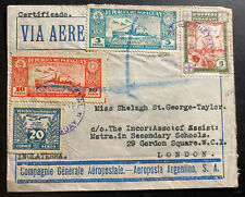 1942 Asuncion Paraguay Airmail cover to London England