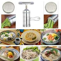 Manual Stainless Steel Noodle Maker Press Pasta Cutter Kitchen Machine Tool New
