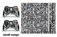 Skin Decal Wrap for Xbox 360 E Gaming Console & Controller Sticker Design SKULL