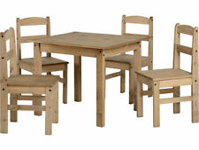 Pine Seats Traditional Table & Chair Sets with 5 Pieces