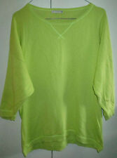 Ladies Target Size 12 Light Green Knit Look Top Short Sleeve Cotton