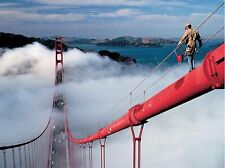 Ressmeyer: Painter on the Golden Gate Bridge Keilrahmen-Bild 60x80 San Franzisko