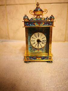 Vintage Cloisonne Carriage Clock