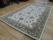 Taj Jaipur Indian Ivory Beige Wool Handmade Traditional Rugs 152x229cm RRP£250