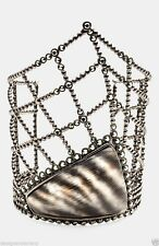 Alexis Bittar 'Lucite® - Santa Fe Deco' Wide Zebra Pattern Cuff Bracelet