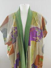 Antiker Kimono, Weste, bunt gemustert, ca Gr.M