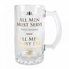 OFFICIAL GLASS TANKARD GAME OF THRONES ALL MEN MUST SERVE MUST DIE MUG BOXED