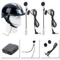 2X Helmet to Helmet 2 way Intercom Bluetooth MP3 CD Motorcycle Motorbike Headset