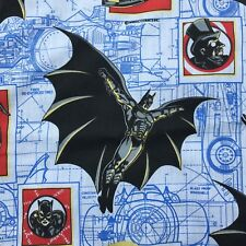 Batman Returns Twin Flat Sheet Vintage 1992 DC Comics Catwoman Batmobile Fabric