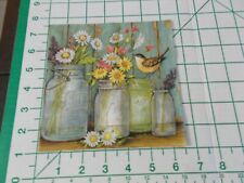 "Two Decorative Luncheon Napkins for Decoupage /""Old Glory/"" with cowboy boots"