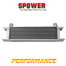 Universal 10 Row AN10 Engine Transmission Aluminum Oil Cooler Mocal Style Silver