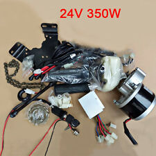 Powerful 24V 350W Electric Bicycle E-Bike Brush Gear Motor Modification Part Kit
