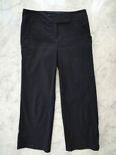 Max Studio Womens black Linen blend Pants Trousers cropped ength  size 4