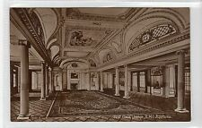 "FIRST CLASS LOUNGE R.M.S. ""AQUITANIA"": Cunard Line shipping postcard (C15888)"