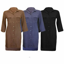 Collar Shirt Dresses for Women with Pockets
