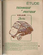 REVUE TECHNIQUE AUTOMOBILE 119 RTA 1956 ETUDE VELAM ISETTA ETUDE TRIUMPH TR2