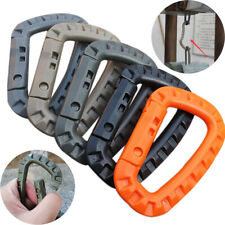 5pcs Outdoor Camping D-Ring Carabiner Key Chain Snap Clip Hook Plastic Buckle