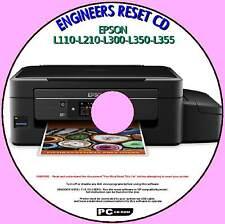 EPSON L110 L210 L300 L350, L355 INK PAD COUNTER REPAIR FIX ENGINEERS RESET PC CD