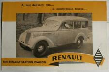 RENAULT Station Wagon Sales Brochure 1952 PL.518-5201-R