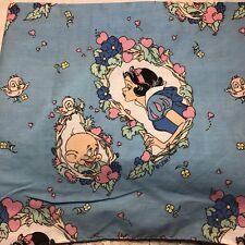 Vintage Disney Snow White & the Seven Dwarfs Dopey Queen Bed Skirt Dust Ruffle
