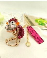 Cute NWT Betsey Johnson Necklace Crystal And Gold Super Cute 🐒 Monkey