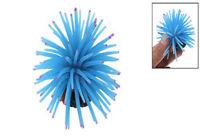 Mini anémone de mer en silicone Ornement d'aquarium bleu WT