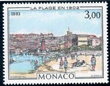 STAMP / TIMBRE DE MONACO N° 1385 ** ART / TABLEAUX / LES THERMES VALENTIA
