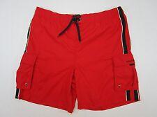 nautica swimsuit  trunks shorts  large cargo red blue white  38