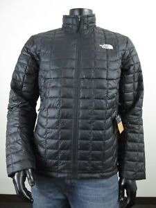 NWT Mens TNF The North Face Thermoball ECO Insulated FZ Puffer Jacket - Black