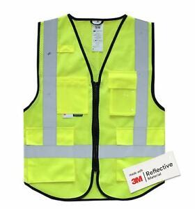 Salzmann Hi Vis Reflective Multi Pocket Safety Vests, With 3M Scotchlite