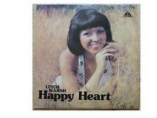 LINDA MARSH * HAPPY HEART * SIGNED VINYL LP TANK BSS 150 LP PLAYS GREAT