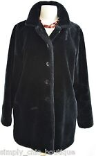 HAROLDS vintage Jacket opera knee Coat Faux Fur Boho plush Black mink Size 8 VTG