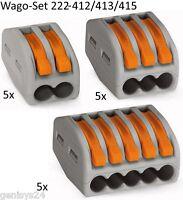 Wagoklemmen SET 5x222-412, 5x222-413, 5x 222-415,  WAGO Klemmen Serie 222 Origin