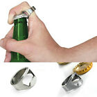 New Stainless Steel Finger Thumb Ring Bottle Open Opener Bar Beer Tool Silver