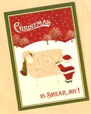 Sheep Lamb Ewe Shear Joy Santa Claus Christmas Cards Box of 18^