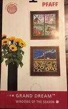"Pfaff Embroidery Designs #421 ""Windows of The Season"""