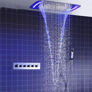 Rain Shower System Ceiling Mount Multifunction Mist Spray Waterfall Spa Massage