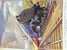 m17a4 ephemera book plate railway steam train engine the flying scotsman
