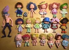 STRAWBERRY SHORTCAKE VINTAGE LOT of 19 Dolls (1 Party Pleaser) + 1 Pet