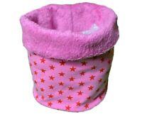 Hundeloop Schal für Hunde Größe S 41 cm x 15 cm Fleece rosa Sterne Muster
