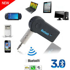 Wireless Bluetooth 3.5mm USB AUX Audio Stereo Music Car Receiver Adapter Mic UK