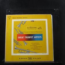 "Various - Great Trumpet Artists 10"" LP VG+ LPT 26 RCA Victor Mono Vinyl Record"