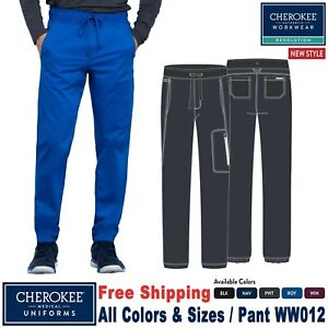 Cherokee Scrubs REVOLUTION Men's Natural Rise Straight Leg Jogger Pant WW012