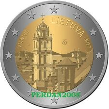 LITUANIA 2017 2 EURO VILNIUS CAPITALE EUROPEA DELLA CULTURA LITAUEN LIETUVA