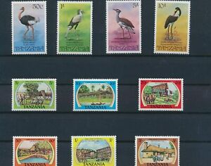 LO43925 Tanzania birds game lodges fine lot MNH