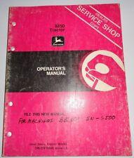 John Deere 8850 Tractor (up to s/n 6500) Operators Manual Jd Om-Rw16848 L1